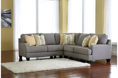 Alloy Chamberly 3-Piece Sectional View 1