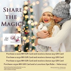 Magnolia House, Thanks For The Gift, Free Gift Cards, Spa Day, Christmas And New Year, Tis The Season, Are You The One, Holiday Gifts, Crochet Hats