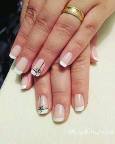 Elegant Nail Designs, French Nail Designs, Nail Art Designs, Gel Polish Colors, Nail Polish, Nail Art Diy, French Nails, Nail Arts, Hair And Nails