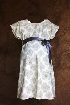 Maternity Delivery Hospital Gown in Beautiful Grey Floral - Ready to ship - Great Baby Shower Gift
