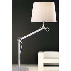 TEO STOLNÍ - Polohovatelná stolní lampička s textilním stínidlem.