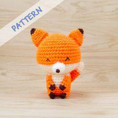 Crochet Fox Pattern - Amigurumi Fox Pattern - Stuffed Animal Pattern - Crochet…