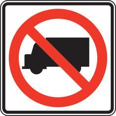 No Trucks Sign MUTCD R5-2
