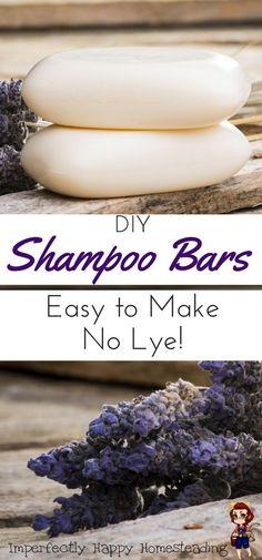 Easy to Make DIY Shampoo Bars, no lye to deal with!