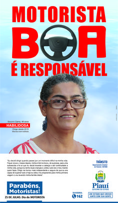 Anúncio I Para Jornal - Dia Do Motorista 2016 - Cliente Gov. Do Piauí