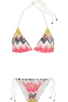 Missoni - Crochet-knit Bikini - Pink - IT44