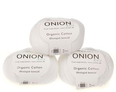 Hvid økologisk bomuldsgarn fra Onion - 35 kr. per 50 gram