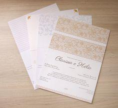 Convite de casamento moderno Viena