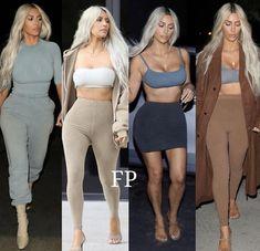 Kim K wearing Yeezy