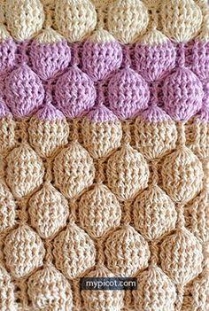 Crochet Bubble Stitch Tutorial - (mypicot)