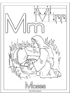 M is for baby Moses in a basket Bible Activities For Kids, Bible Crafts For Kids, Preschool Bible, Preschool Lessons, Sabbath Activities, Bible Study For Kids, Bible Lessons For Kids, Bible Story Crafts, Bible Stories