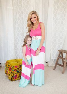 Girls Pretty Girl Maxi Pink - Ryleigh Rue Clothing by MVB