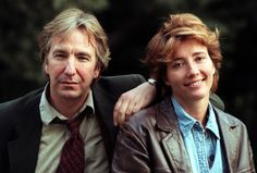 alan rickman and emma thompson. They make a lovely couple too bad they are not married to each other.