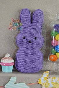Ravelry: Easter Peep Kawaii Cuddler pattern by Donna Beavers Easter Crochet Patterns, Crochet Bunny, Amigurumi Patterns, Crochet Animals, Crochet Yarn, Easy Crochet, Crochet Toys, Free Crochet, Holiday Crochet