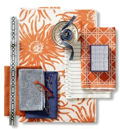 Orange Zest Fabric Collection. Image: Calico Corners. #fabric #textiles #fall_decorating #patterns