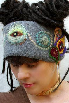 sweater art headbands from justmystylerecycled.etsy.com