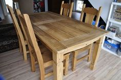 Pier One Rustic Dining Table w/4 Chairs *Reduced*