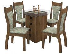 Conjunto de Mesa 4 Cadeiras - Milão Celta Móveis com as melhores condições você encontra no Magazine Lojaslui. Confira!