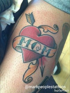 Mom heart by Mark Peoples done at Gypsy Rose Tattoos