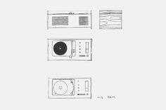 Sketches of the SK4  |  1956  | Dieter Rams