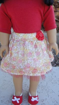 "18"" Doll Skirt Tutorial"