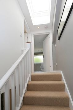 dormer loft conversion wandsworth: modern Corridor, hallway & stairs by nuspace