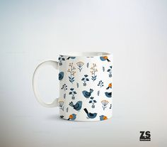 Taza diseño estilo nórdico diseños naturaleza en colores