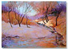 "Elizabeth Sandia | ""The Galisteo River"" | Pastel, 16 x 20"""
