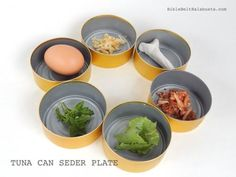 Tuna Can Seder Plate (instant upcycle DIY) #Passover
