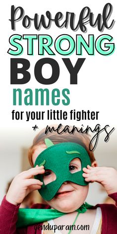 Looking for some strong names for boys? These boy names are seriously tough and powerful but still so handsome. Check out these uncommon boy names with meanings and origins to help you choose the right one for your baby boy. Lots of cool and unique boy names to choose from as well as some classic baby names you'll love. Lots of popular boy names for 2020, take a look! #rarebabynames #uncommonbabynames #strongnames