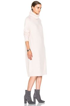 Modest White Sweater Dress