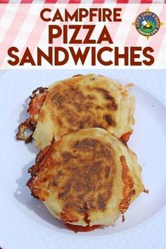 Campfire Pizza Sandwiches Recipe - Want pizza while camping? Create these Campfire Pizza Sandwiches in a pie iron over the fire. This campfire sandwich will become a family favorite!