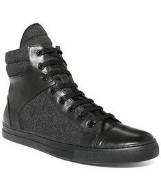 Kenneth Cole Double Header Hi-Top Sneakers