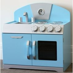 Blue Retro Toy Play Kitchen