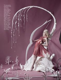 Vogue UK Origami Fantasy Art Photography for Olympic Games with Lara Mullen Archery