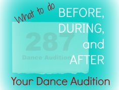 Dance Audition or Inteview Checklist Dance Training, Say More, Sayings, Dancing, Ballet, Life, Queen, Studio, Lyrics