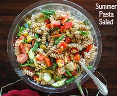 Party Salads for a Crowd | Summer Pasta Salad