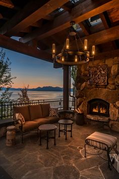 Traditional Style Mountain #Home Overlooking Lake Tahoe #Luxury #RealEstate #California #LakeTahoe