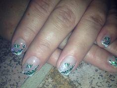 Saskatchewan Roughrider nails Get Nails, Hair And Nails, Square Gel Nails, Saskatchewan Roughriders, Community Art, Summer Nails, Sport Nails, Acrylic Nails, Nail Designs
