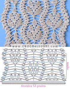 Antiidade Crochet Patterns Step By Ste Crochet - Diy Crafts Crochet Motif Patterns, Crochet Diagram, Crochet Chart, Filet Crochet, Crochet Baby, Stitch Patterns, Knitting Patterns, Diy Crafts Crochet, Crochet Projects