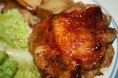 Roasted Balsamic Chicken Thighs