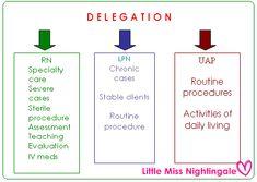 delegation of UAP | Reference: LalaineRn's notes of nursing