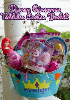 How we do Easter | Toddler / Preschool non-candy Easter Basket with Disney Princesses #DisneyEaster #CollectiveBias #ad