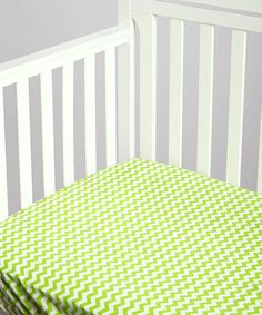 Look at this Lolly Gags Lime Chevron Changing Pad Cover on #zulily today!