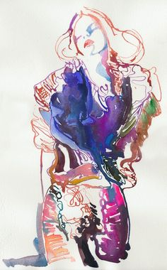 Cate Parr  -  fashion illustration  I love it!!!!