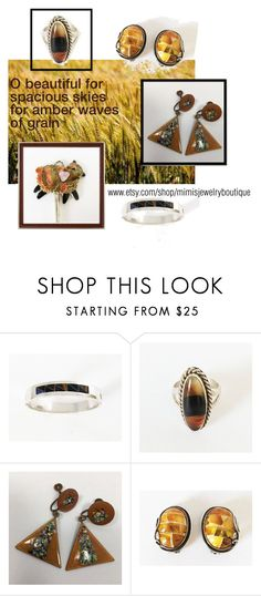 Amber Waves of Grain by foursweetk on Polyvore featuring Lazuli, vintage and mimisjewelryboutique