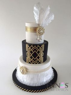 My Fave Great Gatsby Art Deco Cake Ever - Cake by Irina - Ennas' Cake Design Great Gatsby Party, Gatsby Wedding Decorations, Great Gatsby Invitation, Great Gatsby Themed Wedding, Art Deco Cake, Cake Art, Art Deco Party, Pastel Art Deco, Bolo Cake
