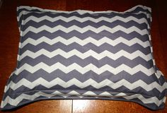 pillow sham chevron and minky standard size by KiksNBoo on Etsy, $20.00