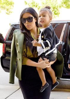 Kim Kardashian and North West out in SoHo