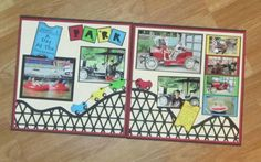 Amusement Park Day 12 x 12 page by zowee - Cards and Paper Crafts at Splitcoaststampers
